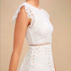 Ariane White Lace Skater Dress